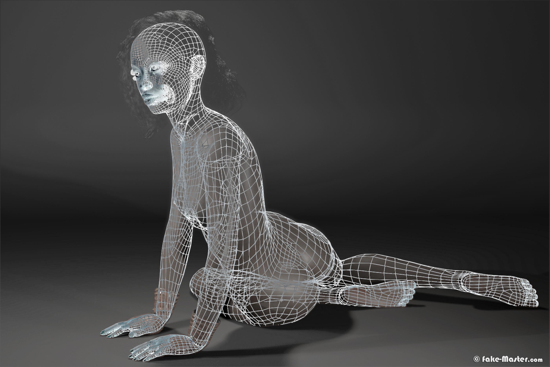 Aïssa Maïga nue, réalisée en 3D par l'artiste Fake-Master