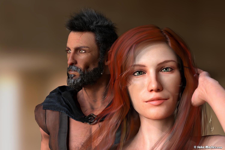 Assassin's Creed vu par Fake-Master: Ezio et Sofia érotique