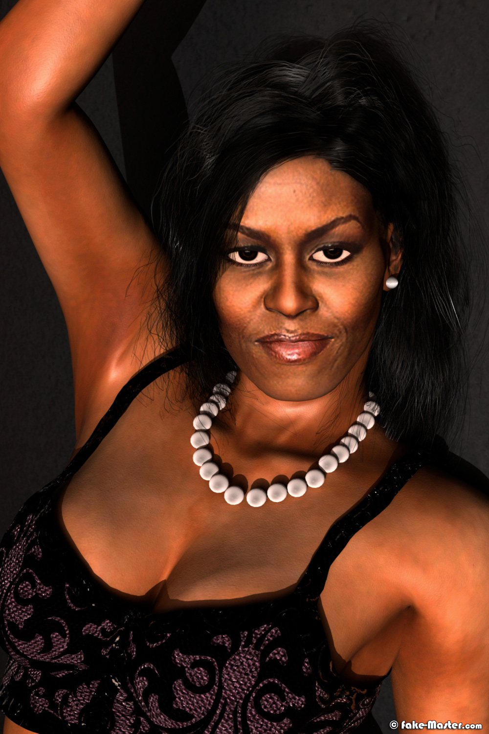 Erotic Michelle Obama by Fake-Master
