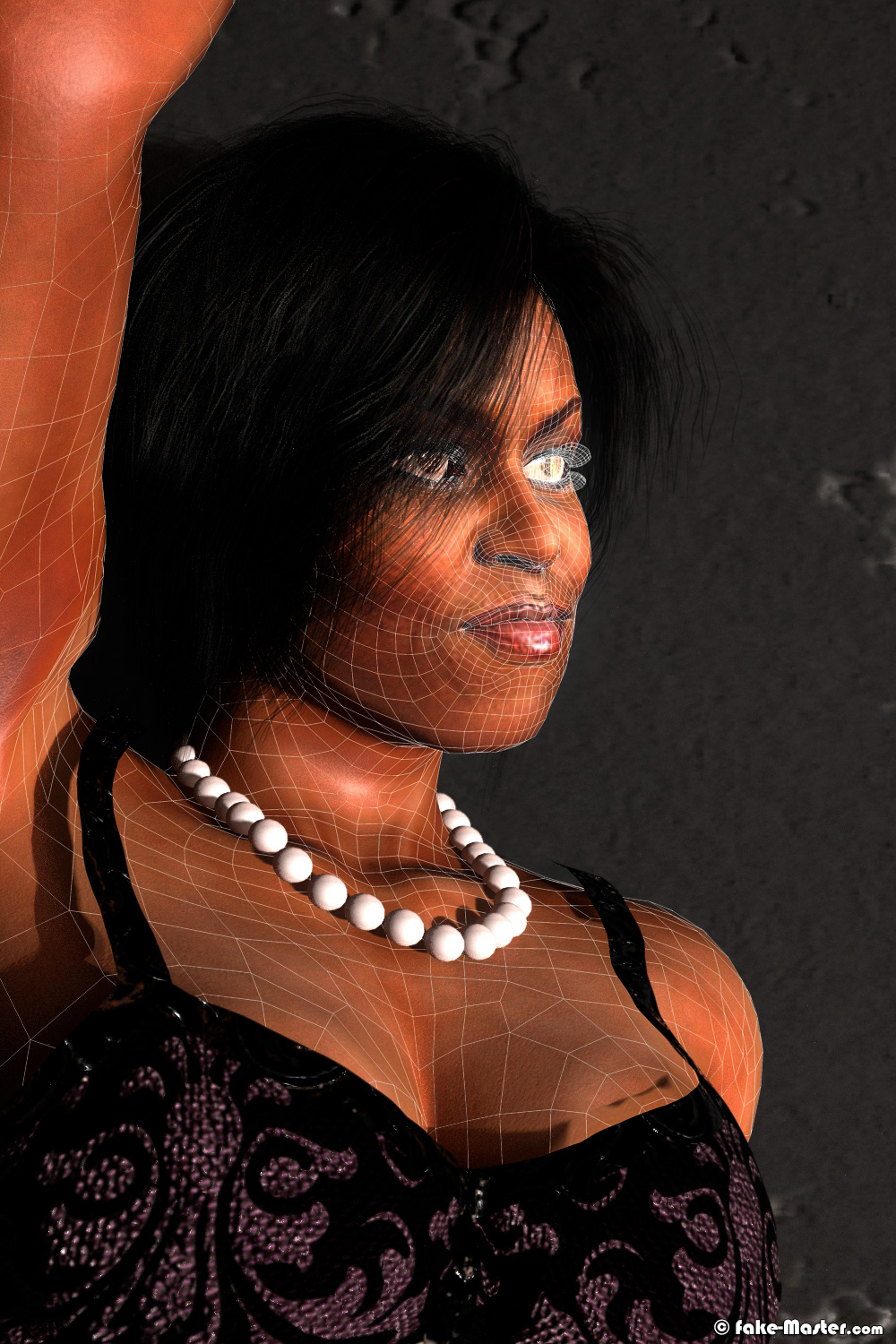 Erotic Michelle Obama 3D by Fake-Master