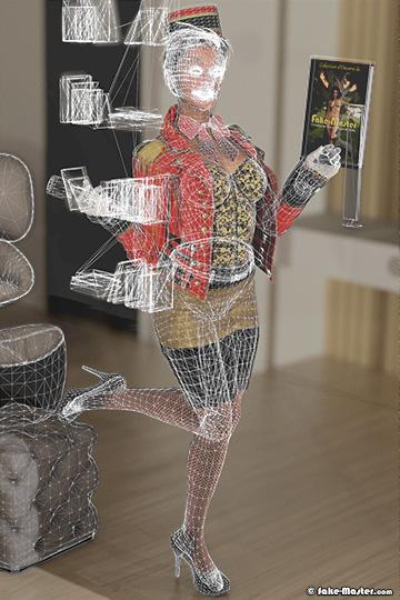 Morgane Miller nue, réalisée en 3D par l'artiste Fake-Master