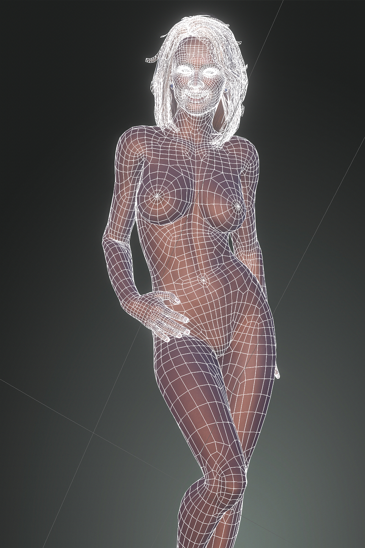 modélisation 3D de la journaliste Vicky Bogaert par l'artiste Fake-Master !