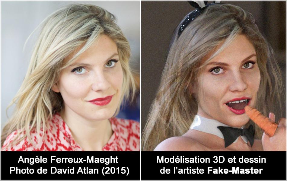 Modélisation 3D + dessin de Fake-Master à l'effigie de Angèle Ferreux-Maeght