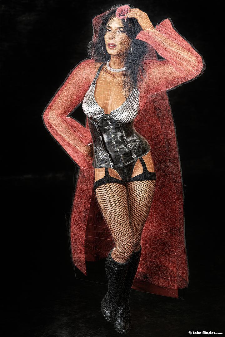 Modélisation 3D de l'actrice Roselyn Sanchez par l'artiste Fake-Master !