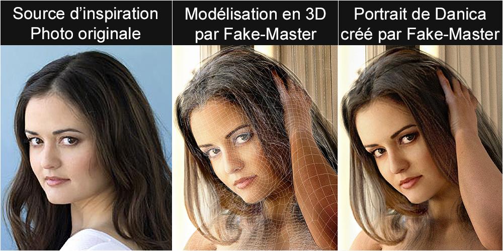Portrait réalisé par l'artiste Fake-Master