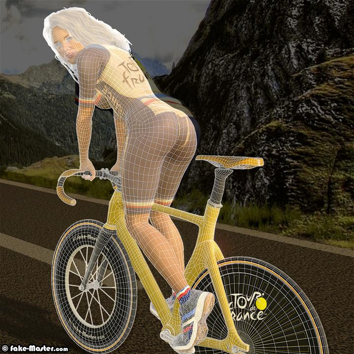 Marion Rousse modélisée en 3D par l'artiste Fake-Master