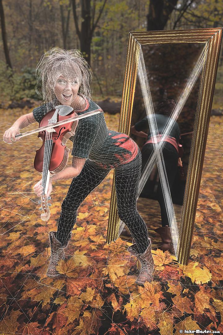 Lindsey Stirling modélisée en 3D par l'artiste Fake-Master