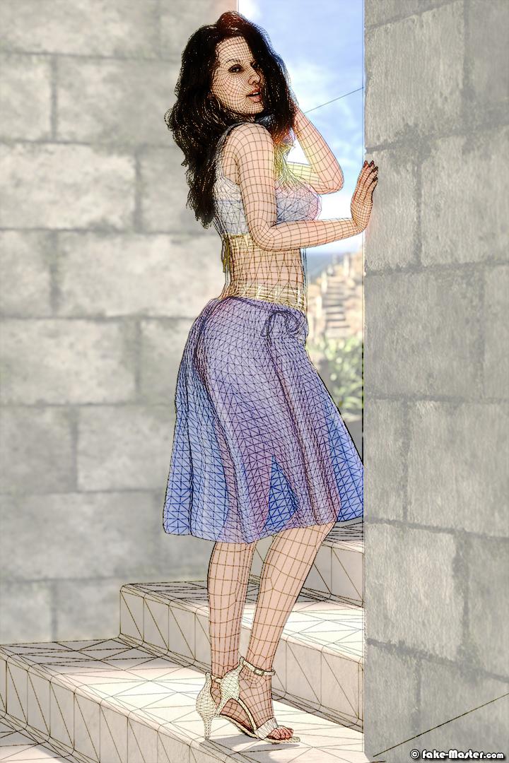 Nora Fatehi modélisée en 3D par l'artiste Fake-Master