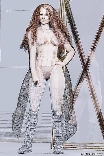 Becky Lynch modélisée en 3D par l'artiste Fake-Master