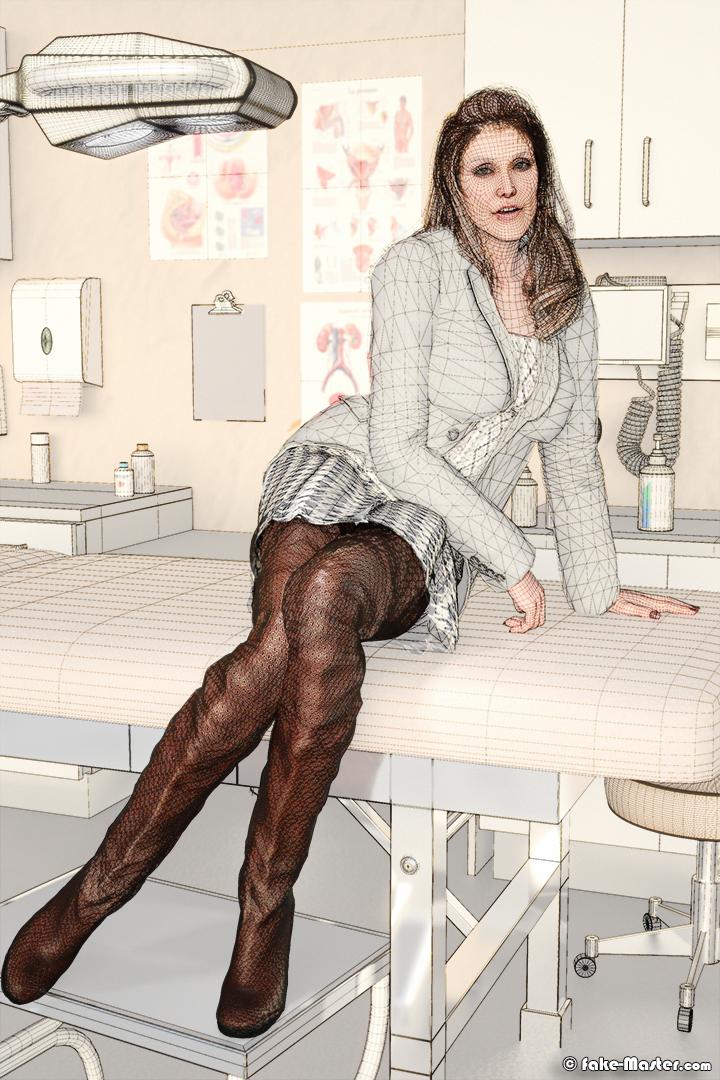 Alexandra Hubin modélisée en 3D par l'artiste Fake-Master