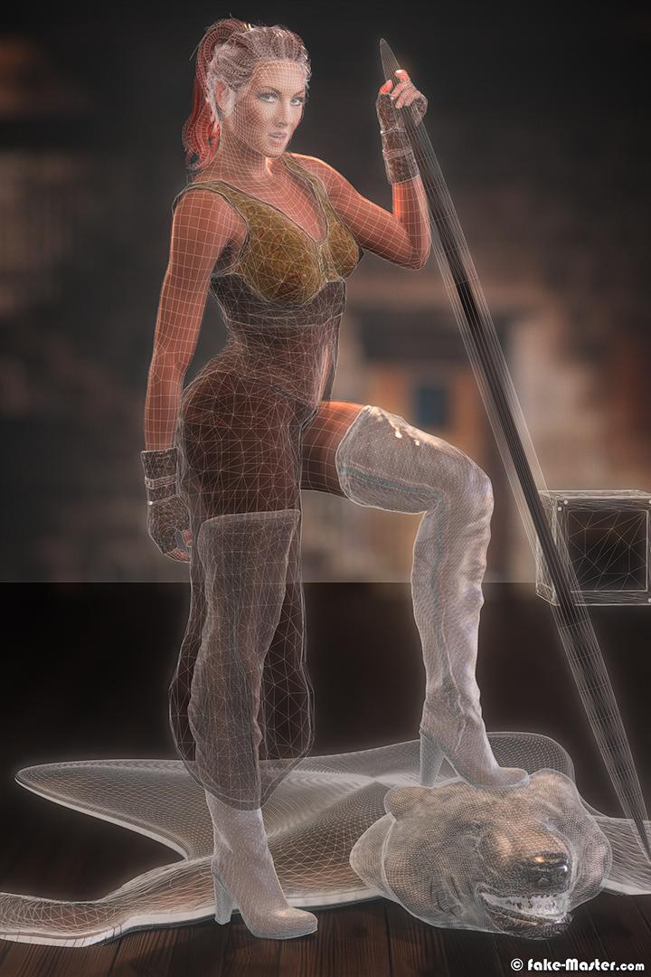 Becky Lynch modélisée en 3D par Fake-Master