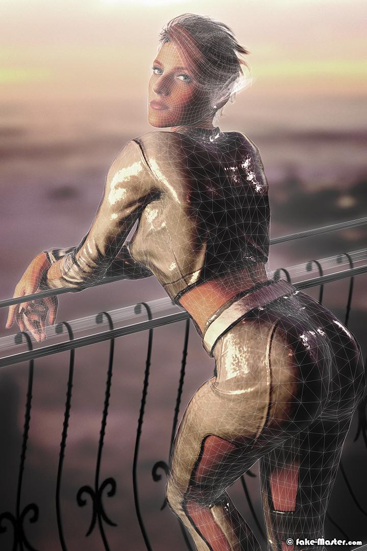 Modélisation 3D de Claire Delorme par Fake-Master !