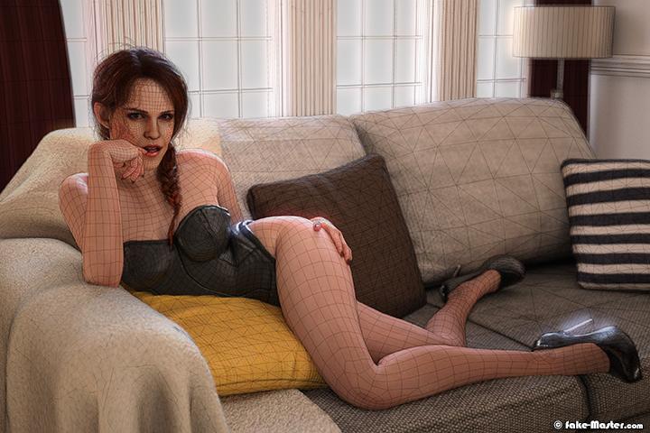 Modélisation 3D de Emma Watson par Fake-Master !