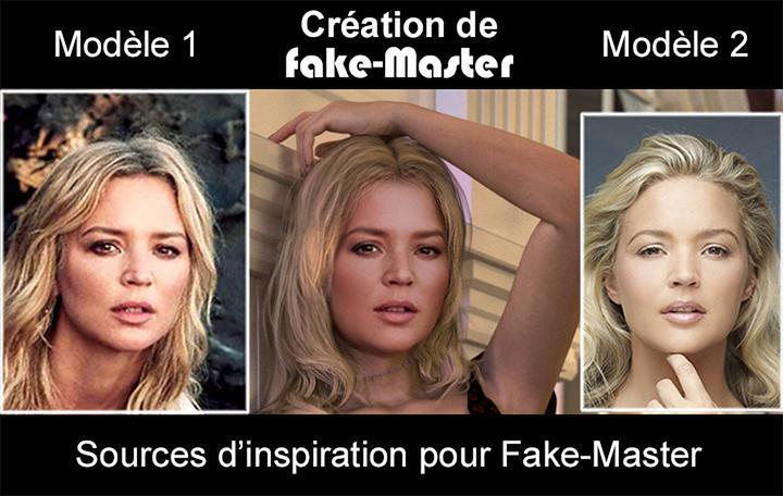 Ce visuel montre les 2 photos qui ont servi de modèles pour recréer le jolie visage de Virginie Efira !